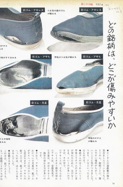 第二世紀32号に掲載された、子どもの運動靴をはきつぶすテスト