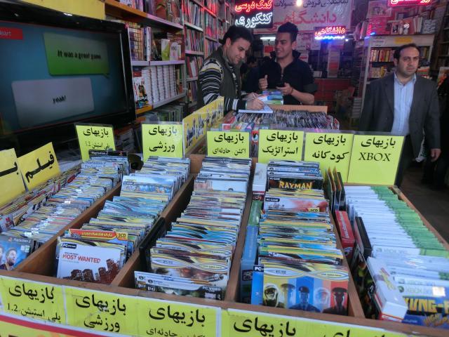 テヘランのDVDショップ。取材した店ではありません