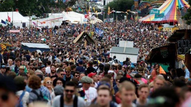 イギリスのグラストンバリー・フェスティバルの様子=2016年6月23日