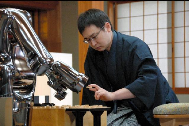 第1期電王戦二番勝負の第1局で敗れた山崎隆之介八段。