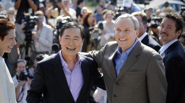 2008年6月、タケイさんはブラッドさんとの結婚を発表した=ロイター