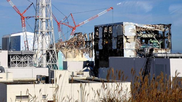 事故のあった福島第一原子力発電所の原子炉建屋=2011年11月12日