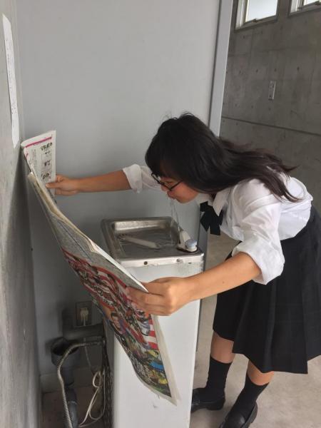 濡れても大丈夫! #かっこよく新聞読む