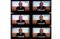 天皇陛下のお気持ちを示したビデオメッセージを放送するテレビ各社