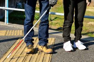 わかってほしい、白杖で音を立てる理由 歩きスマホに視覚障害者は…
