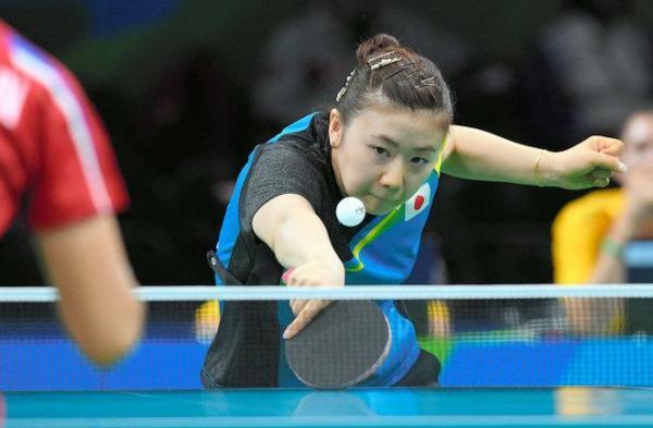 【リオ五輪】卓球女子で準々決勝進出を決めた福原愛=竹花徹朗撮影
