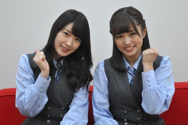 乃木坂46の高山一実さん(左)と伊藤かりんさん
