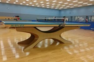 リオ五輪「美しい卓球台」日本メーカーの技術結晶 木材は被災地から