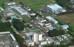 事故が起きたJCOの施設=1999年9月、茨城県東海村