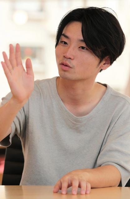 中学時代のいじめ体験を振り返る奥田愛基さん=竹谷俊之撮影