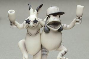 パリピ、社畜、自撮り……鳥獣戯画を現代風フィギュアに 狙いを聞く