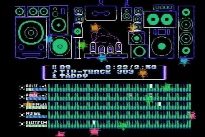「8BIT MUSIC POWER」の楽曲再生画面
