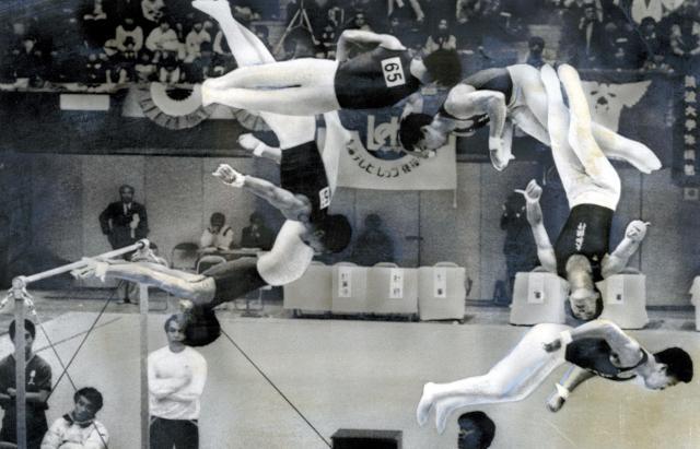 山脇恭二選手の「月面宙返り」