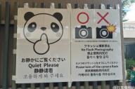 誤訳で中国語SNSで話題になっていたパンダ館のポスター