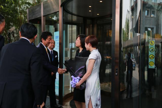 シェラトン杭州湿地公園リゾートが安倍首相を迎え入れた瞬間