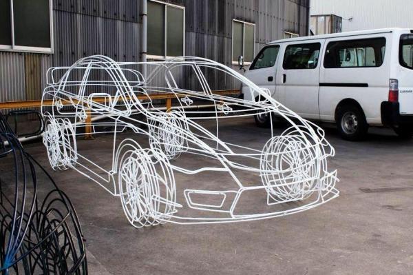 ワイヤーフレームカー