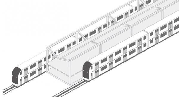 2階建て電車「ライトレール」のホームのイメージ=ライトレール社提供