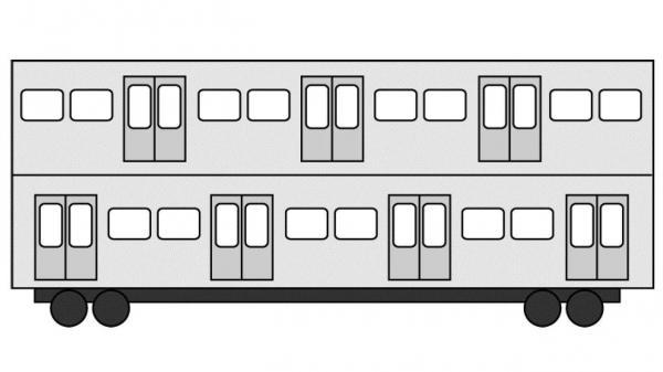 2階建て電車「ライトレール」のイメージ。乗降口は2階にもある=『満員電車がなくなる日』(角川SSC新書)より