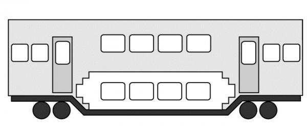 従来の2階建て電車。乗降口は1階にある=『満員電車がなくなる日』(角川SSC新書)より