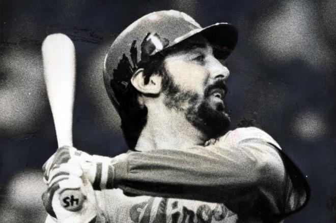 広島カープのランス外野手=1988年4月20日