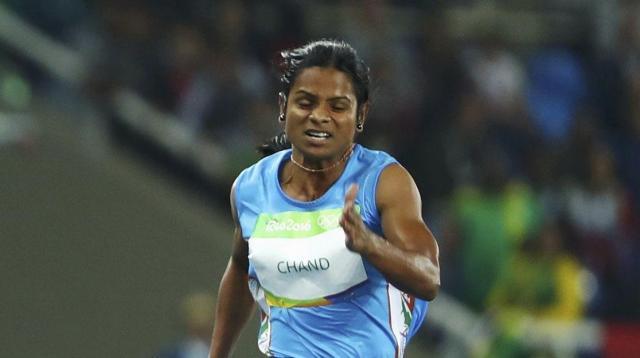インドのデユティ・チャンド選手=ロイター