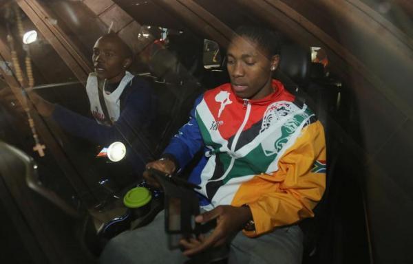 南アフリカのセメンヤ選手=ロイター