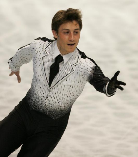 2007年世界選手権男子SPで首位に立ったブライアン・ジュベール選手=2007年3月