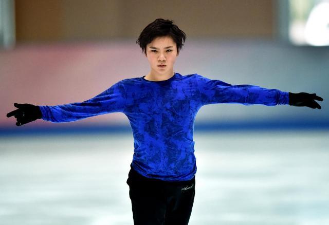 中京大のリンクで練習する宇野昌磨=2016年2月28日