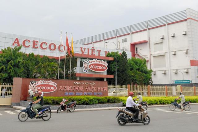 エースコックベトナムの工場=ホーチミン、伊藤弘毅撮影