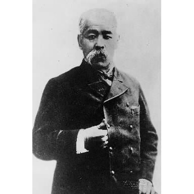 旧土佐藩士で、第2次伊藤博文内閣の農商務大臣・後藤象二郎