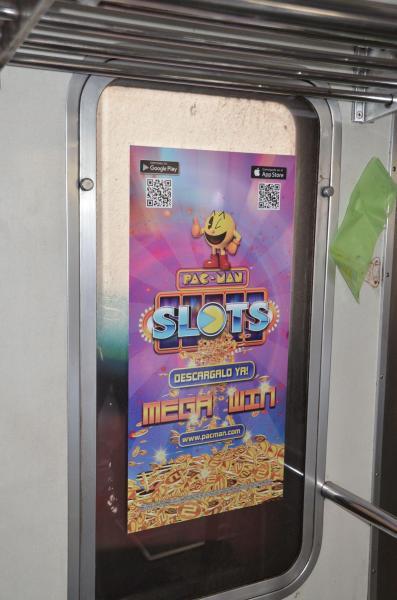 車両内のゲーム広告