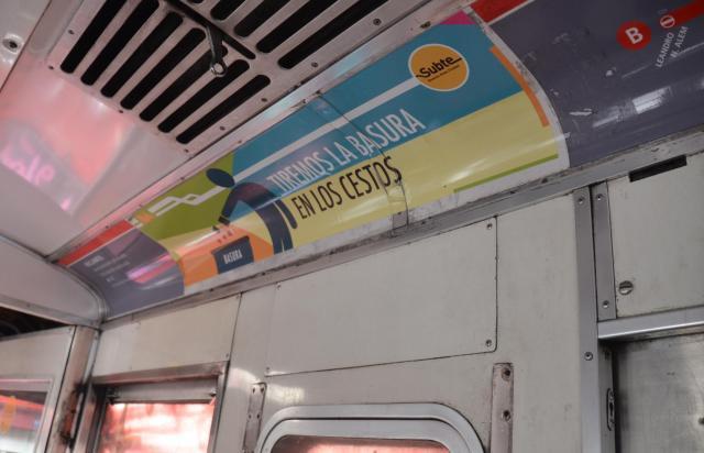 アルゼンチンの車内表示や広告が残る