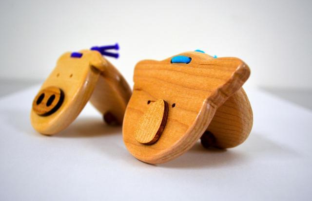 京都刑務所で作られている木製カスタネット
