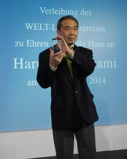 2014年にはドイツで「ウェルト文学賞」を受賞した村上春樹さん