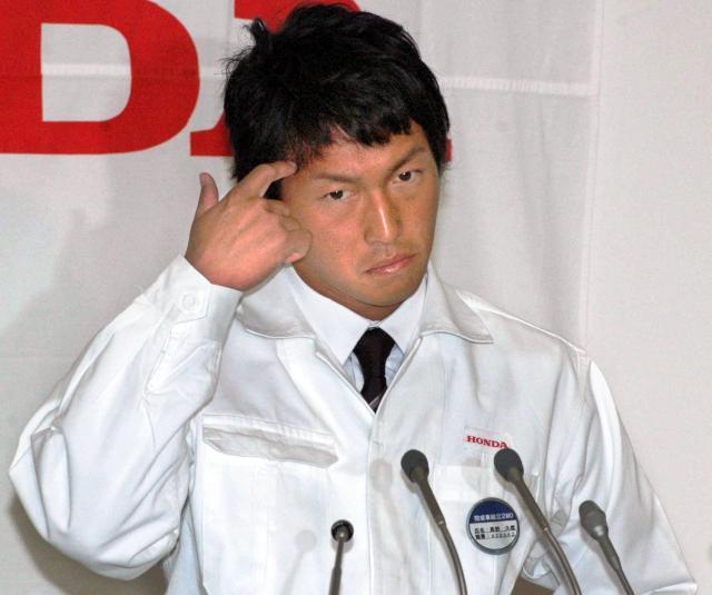 08年のドラフトでロッテに指名されたホンダの長野久義選手。ロッテ入団を拒否し、ホンダに残留した