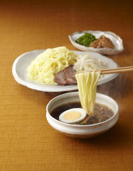 「手延中華麺 揖保乃糸 龍の夢」を使った中華つけ麺