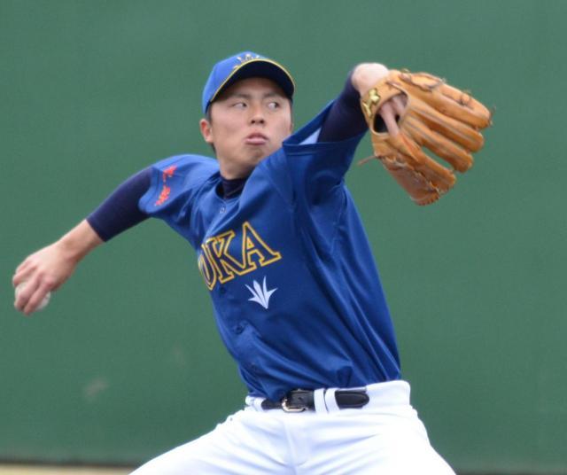 創価大の右腕・田中正義投手。複数球団の1位指名が予想される
