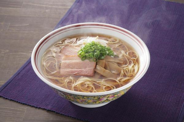 「手延中華麺 揖保乃糸 龍の夢」を使ったしょうゆラーメン