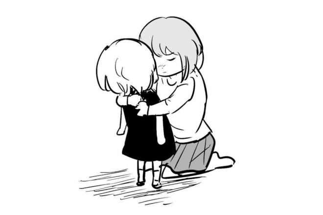 漫画「子ども」の一場面=作・吉谷光平