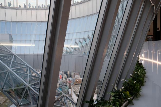 すり鉢状の「空中クレーター」。9月から39階の無料フロアを初めて回遊できるようになった