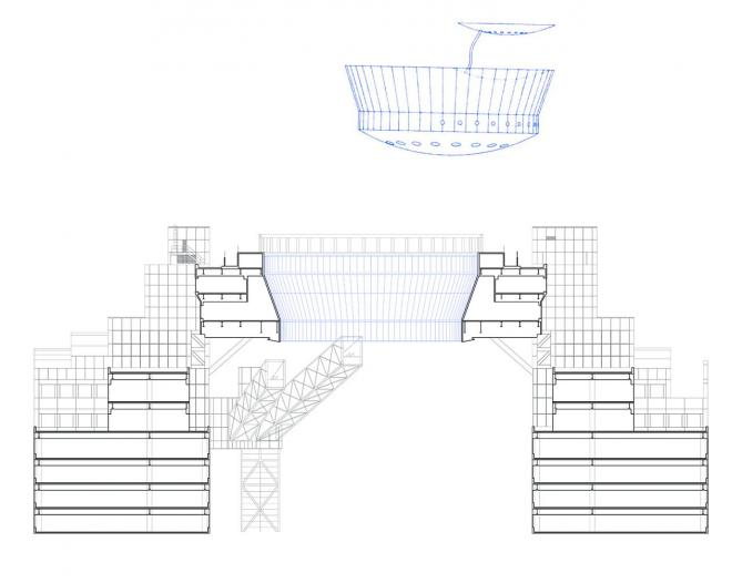 「空中クレーター」と飛び去った宇宙船の設計図