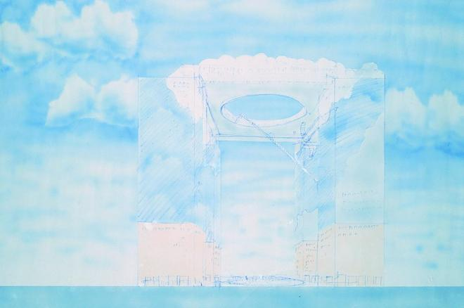 梅田スカイビル「ファーストスケッチ」原広司、1988年