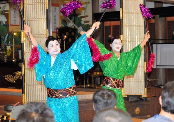 若手僧侶による婚活パーティー「お寺de縁結び」=2015年9月27日、福岡県行橋市
