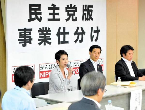 「民主党版事業仕分け」の最後に発言する蓮舫氏=2012年7月25日