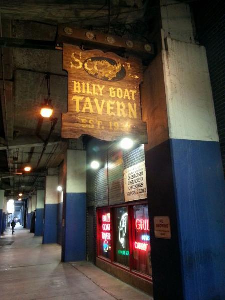 居酒屋「ビリー・ゴート・タバーン」。創業は1934年。現在はシカゴのあるイリノイ州に8店舗、ワシントンDCに1店舗あるという