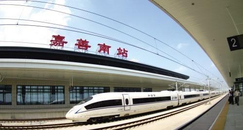 高速鉄道が通る「嘉善南駅」