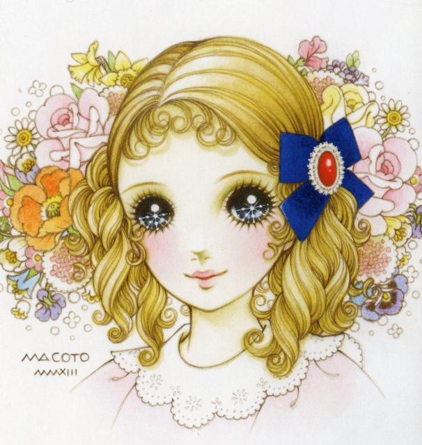 高橋真琴さんが描いた少女画