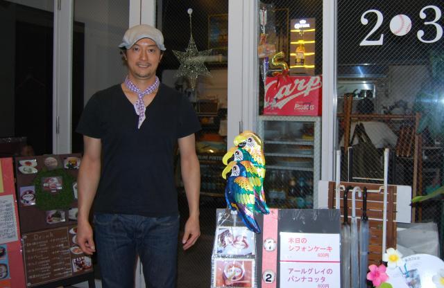 代官山でパティシエとしてカフェを経営する小林敦司さん