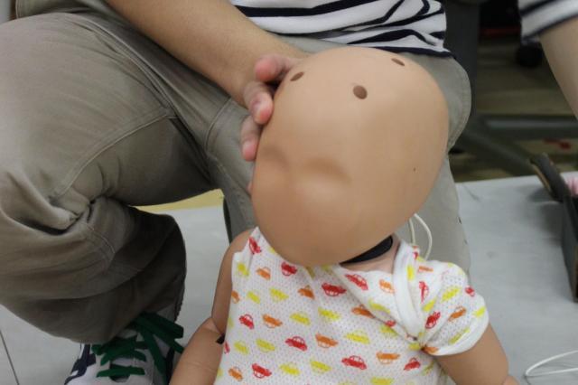 実験で使われた6カ月児を想定した人形