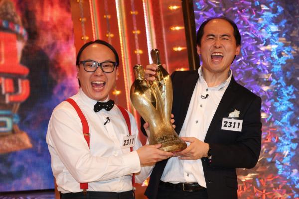 「M―1グランプリ2015」の王者となったトレンディエンジェル=池永牧子撮影